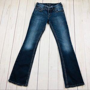 Silver Suki Surplus Boot Cut Jeans Size 27